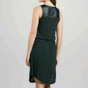 Splendid Leather Rayon Striped Dress